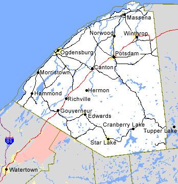 Map Of Northern New York.Nnyppab